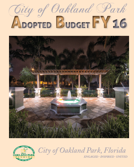 FY 16 Budget Cover