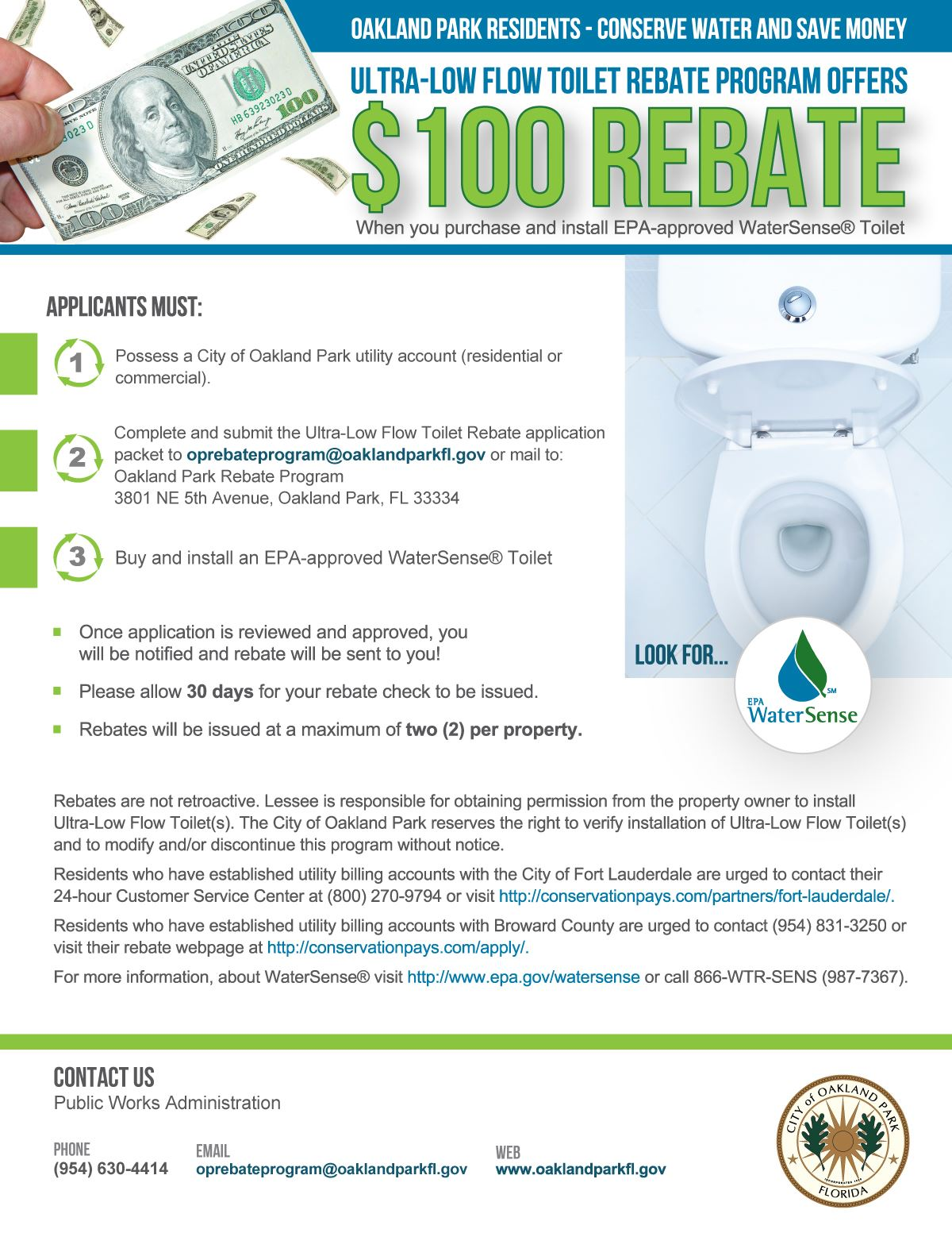 Toilet Rebate Flyer