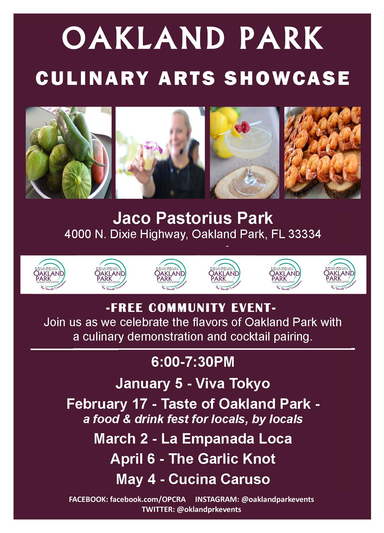 City of Oakland Park - Culinary Arts Showcase