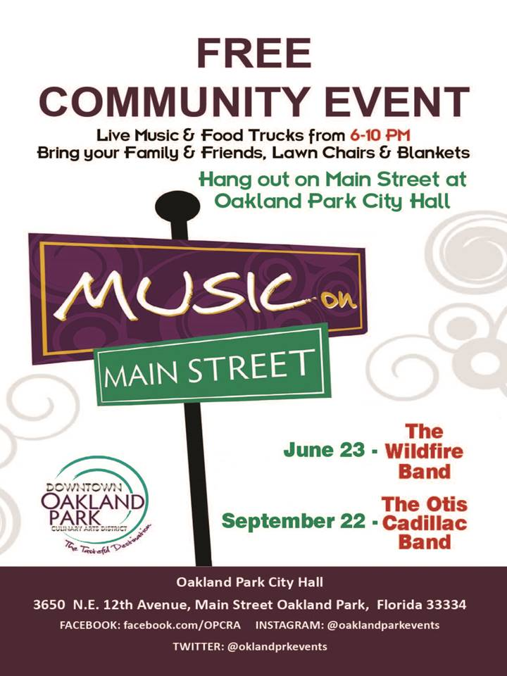 Music On Main Street Flyer