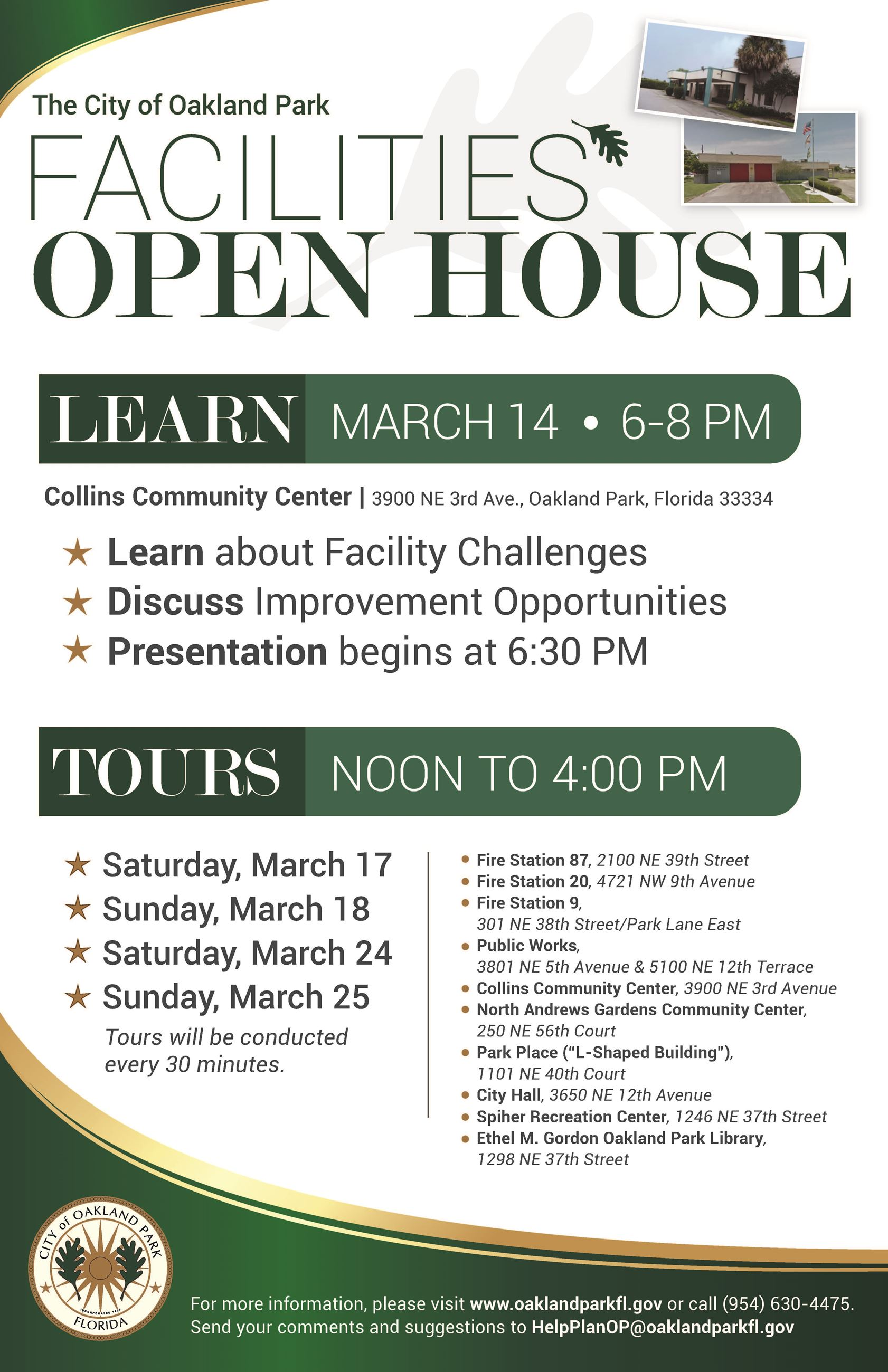 Facilities Open House Poster v3