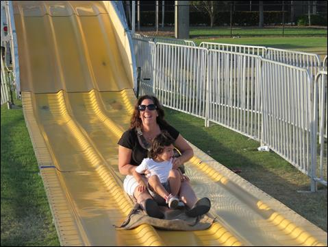 Sliding Down the Big Slide